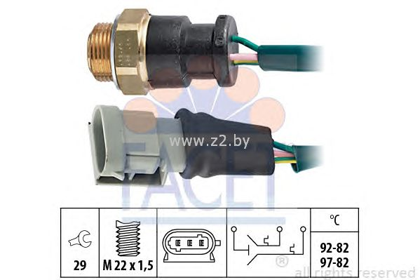 Датчик выключения вентилятора радиатора