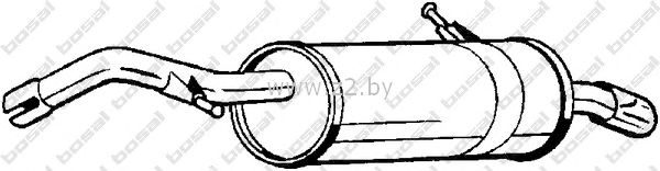 Задняя часть глушителя